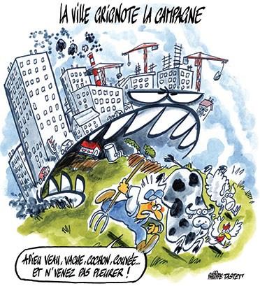 Adaptation de l'agriculture aux changements climatiques La-ville-grignote-la-campagne